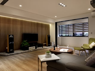 Salon de style  par 星葉室內裝修有限公司, Moderne
