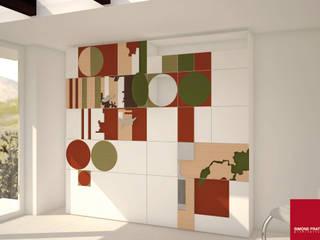 parete attrezzata:  in stile  di Simone Fratta Architetto