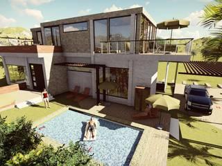 Casa Moncada: Casas de madera de estilo  por Arquitectura su c,