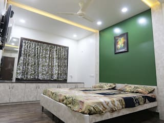 Total Interior design work in Wakad, Pune Modern style bedroom by Designaddict Modern