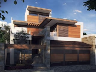 TALLER DE ARQUITECTURA 2A Modern home Wood Multicolored