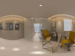 One Smile at a Time:  Study/office by Mahesh Punjabi Associates