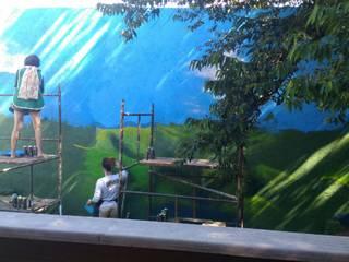 Pintura de muro: Jardins de inverno  por W.Costa Arquitetura, Urbanismo & Sustentabilidade,Campestre