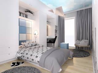 Eco Apartament: styl , w kategorii Pokój dla chłopca zaprojektowany przez 4 kąty a stół 5 Pracownia Projektowa Ewelina Białobrzewska