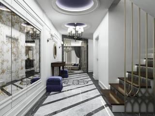 Classic style corridor, hallway and stairs by Niyazi Özçakar İç Mimarlık Classic