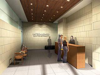 매탄동 사무실 인테리어: (주)건축사사무소 예인그룹의  계단