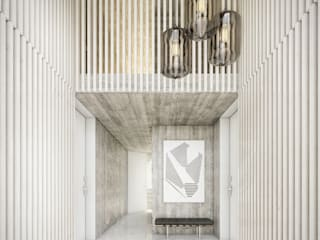 Modern Corridor, Hallway and Staircase by Onstudio Lda Modern