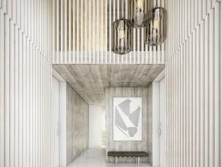 Couloir, entrée, escaliers modernes par Onstudio Lda Moderne