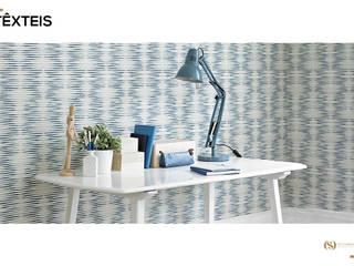 Têxteis: Escritórios e Espaços de trabalho  por MY STUDIO HOME - Design de Interiores