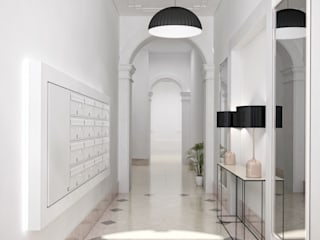 Boavista 62 - Estoril Real Estate Corredores, halls e escadas modernos por Onstudio Lda Moderno