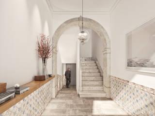 Flores 45 - Odeon Properties Corredores, halls e escadas modernos por Onstudio Lda Moderno