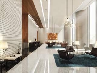 Kinaxixi, Luanda - Back Corredores, halls e escadas modernos por Onstudio Lda Moderno