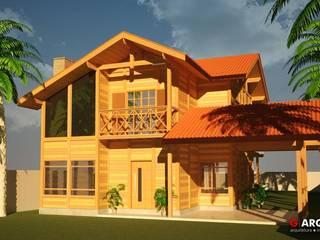 Casas de madeira  por G . Arqui - Arquitetura e Interiores