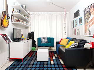 Apartamento Jardim Paulista: Salas de estar  por INTERIOR - DECORAÇÃO EMOCIONAL,Moderno