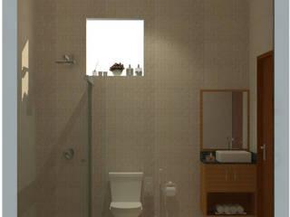 Sanitário Social Banheiros modernos por Mariana Bittencourt Arquitetura Moderno