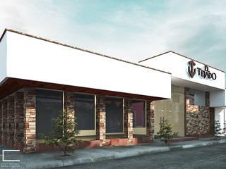 Restaurant El Tejado [Romita, Gto] 3C Arquitectos S.A. de C.V. Bares y clubs de estilo moderno