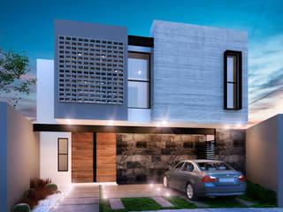 Residencia SZ [León, Gto.]: Casas de estilo  por 3C Arquitectos S.A. de C.V.