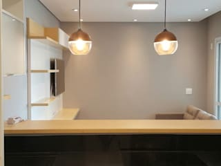Cocinas de estilo escandinavo de ICONO Projetos e Interiores Escandinavo