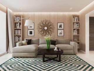 Loại bỏ những chi tiết rườm ra sẽ khiến cho kiến trúc không gian trở nên nổi bật. Phòng khách phong cách châu Á bởi Công ty TNHH TK XD Song Phát Châu Á Đồng / Đồng / Đồng thau