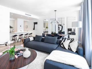 77 Warren Street | Living Room: Soggiorno in stile  di GD Arredamenti