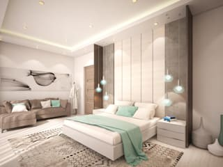 Southern African Residence - Bedroom Ideas:  Bedroom by Dessiner Interior Architectural,