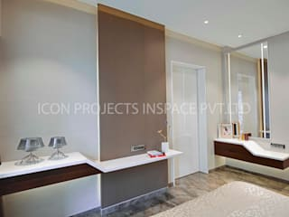 2BHK Residence:  Bedroom by icon projects inspace pvt ltd