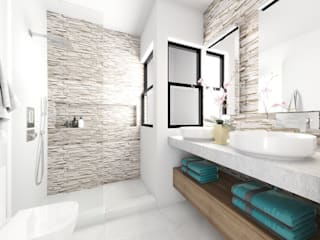 Taller Veinte Modern bathroom