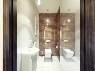 Mieszkanie 65 m2 Nowoczesna łazienka od AMI INTERIOR Projektowanie Wnętrz Nowoczesny