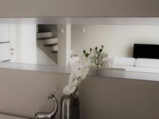Mieszkanie dwupoziomowe Nowoczesny salon od AMI INTERIOR Projektowanie Wnętrz Nowoczesny