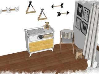 PROYECTO B: Habitaciones de bebés de estilo  por JACH