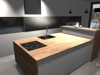 Dom z antresolą: styl , w kategorii Kuchnia na wymiar zaprojektowany przez AMI INTERIOR Projektowanie Wnętrz