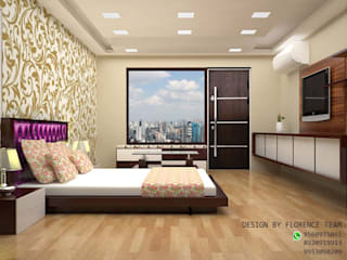Residential project:  Bedroom by Florence Management Services