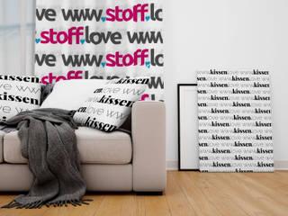 Vorhangstoffe und passende Kissen für Dein Zuhause:  Wohnzimmer von www.Stoff-Schmie.de .:. Becker & Karsten UG (haftungsbeschränkt)