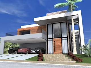 Residência Unifamiliar: Casas familiares  por Lb arquitetura e Design