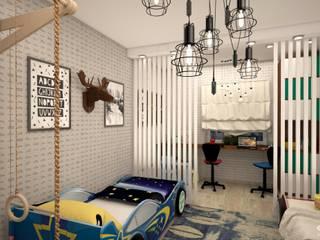 Детская для близнецов.: Детские спальни в . Автор – Студия дизайна Elinarti