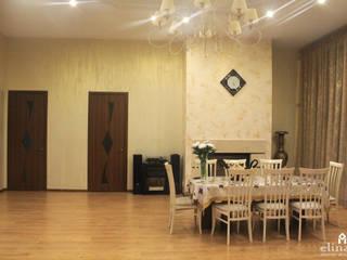 Одноэтажный дом для семьи Гостиная в классическом стиле от Студия дизайна Elinarti Классический