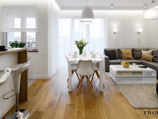 Modern Living Room by Klaudia Tworo Projektowanie Wnętrz Sp. z o.o. Modern