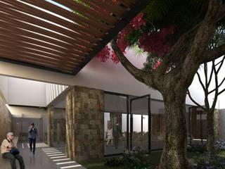FUNERARIA | Playa del Carmen Q. Roo: Pasillos y recibidores de estilo  por EMERGENTE | Arquitectura, Ecléctico