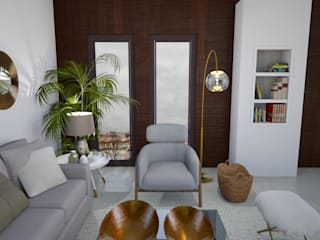 Alojamento turístico em Belém Salas de estar escandinavas por Tezturas • Arquitectura e Decoração de Interiores Escandinavo