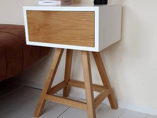 Stolik nocny z dębową szufladą : styl , w kategorii  zaprojektowany przez ACOCO DESIGN