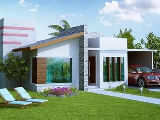Banho Casal: Casas  por Juanna Gabriella Arquitetura e Interiores ,Moderno