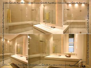 Banho Casal: Banheiros  por Juanna Gabriella Arquitetura e Interiores ,Moderno
