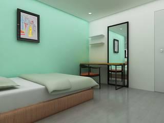 Yunhee Choe Chambre moderne Vert