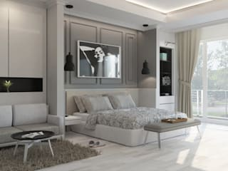 Modern style bedroom by Noff Design Modern