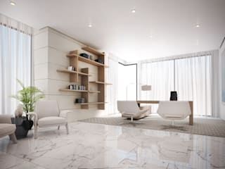 Office Dessiner Interior Architectural Modern style study/office
