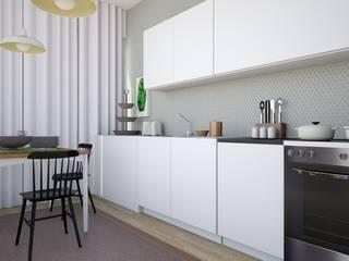 T0 em Oeiras: Cozinhas modernas por Tezturas • Arquitectura e Decoração de Interiores