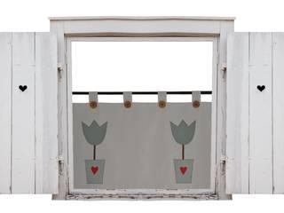 zasłona z tulipanami na Wilkanoc: styl , w kategorii  zaprojektowany przez Drewniany Guzik