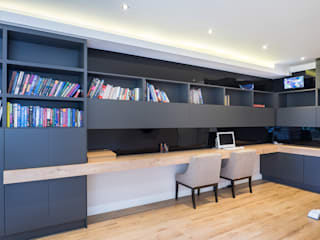 Houghton Residence: The modern (home) office Dessiner Interior Architectural Modern style study/office