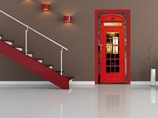 Fotomural de puerta cabina de Londres:  de estilo  de Vinilos Decorativos .com
