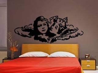 Vinilo Angeles para cabecero de cama:  de estilo  de Vinilos Decorativos .com